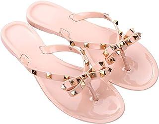 Rajendram 1 Pair Women Flip-Flops Slippers,Flat Breathable Anti-Slip Fashion Slippers for Summer Beach