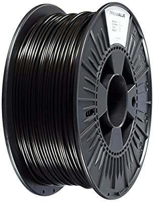 3D Prima PVPLA300BK PrimaValue PLA Filament, 2.85mm OD, 1 kg spool, Black