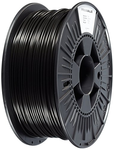 Price comparison product image 3D Prima PVPLA300BK PrimaValue PLA Filament,  2.85mm OD,  1 kg spool,  Black