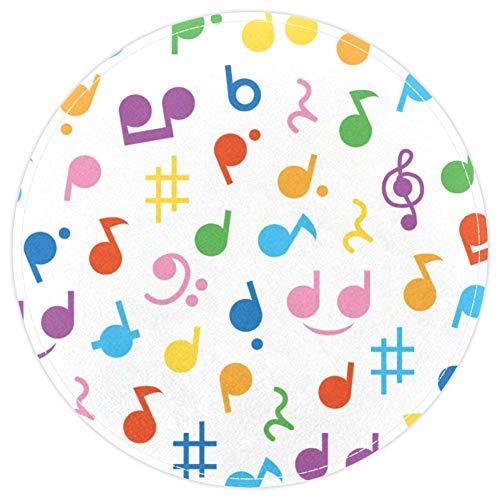 TIZORAX - Alfombra para el Suelo con diseño de Notas Musicales, Antid