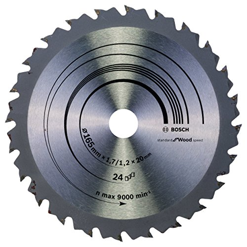Bosch Professional Kreissägeblatt Speedline Wood, 165 x 20/16 x 1,7 mm, 24, 2608642601