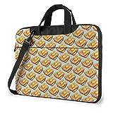 Toast Laptop Bag 15.6 Inch Shoulder Messenger Bag Computer Tote Briefcase for Work School