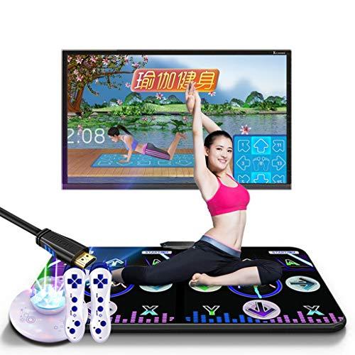 Sparrow Grote dansmat, dubbele yogamatten, tv-tapijten, familiespelletjes, draadloos, 30 mm, plafond met ritssluiting, sfeer voor lichtniveau en geheugenkaart, 8 GB