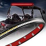 Wayup 30 Inch LED Tail Light Strip, UTV LED Trailer Light Bar Truck Bed Light Strip with Red Brake/Running Light, Amber Turn Signal Light Bar for UTV Polaris RZR Can Am Golf Cart 4x4 Off Road