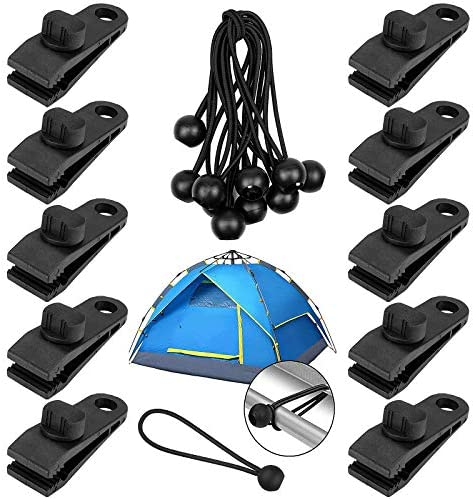 Tarp Clips Heavy Duty Lock Grip Yotako 20 Pcs Multi Purpose Thumb Screw Tarp Clips Clamps and product image