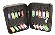 Organises and secures up to 20 keys. Solid steel structure provides added security, supplied with wall mounting holes and fixings. Resettable 3-digit combination lock with coloured tags and number identifiers included.