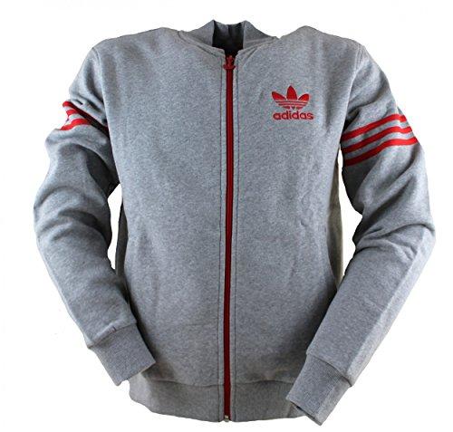 adidas Originals Mens 96 Varsity Zip Fleece Sweatshirt in Grijs
