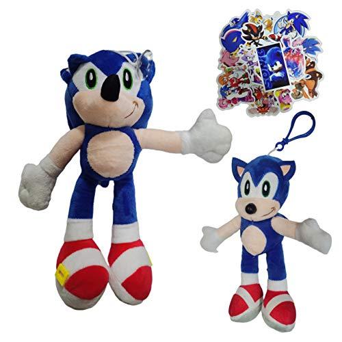 Juguetes de peluche Sonic Super Sonic Super Sonic Mouse Sonic Kid Llavero Joyería de doble cara Colgante Muñeca de regalo