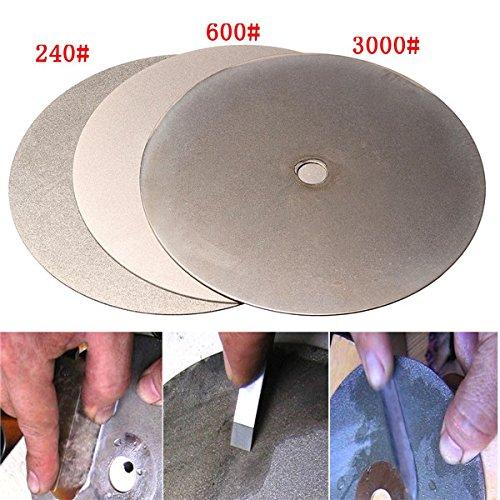 EEvER Multitool-Werkzeugzubehör Schleifscheibe 3pcs 6 Zoll 240 600 3000 Grit Diamantscheibe Diamant beschichtete Diamantschleifscheibe