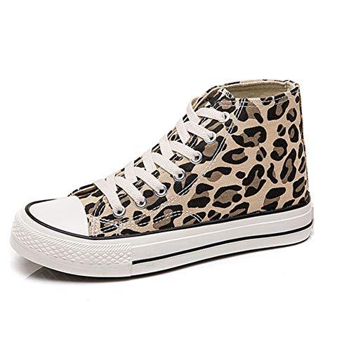 Frauen Leopard Wohnungen Schuhe schnüren Sich Oben Plattform Turnschuhe Damen Vulkanisierte Schuhe Weibliche Mode Lässig Segeltuchschuhe