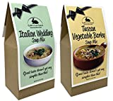 Rabbit Creek Soup Mix Variety Pack of 2 – Italian Wedding and Tuscan Vegetable Barley Soup Mix