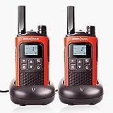 Rechargeable Talkie-Walkie Enfant Longue Distance Walkie Talkies T80 PMR 446MHz 8 Canal Portable Radio Bidirectionnelle Avec VOX Code de Confidentialité CTCSS/DCS Monitor Câble USB Batterie & Chargeur