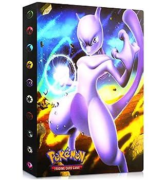 LSST Album Compatible with Pokemon GX EX Mega Cards Binder Compatible with Pokemon Cards Protector Sleeves Compatible with Pokemon Cards Album Binder Compatible with Pokemon  Mewtwo
