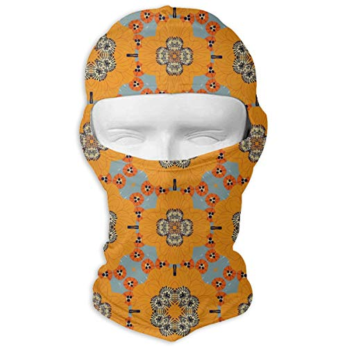 MKDOQS Sunflowers Chestnuts Perssimons Full Face Mask Sun Dust Wind Protection Durable Breathable Seamless Face Mask Bandana