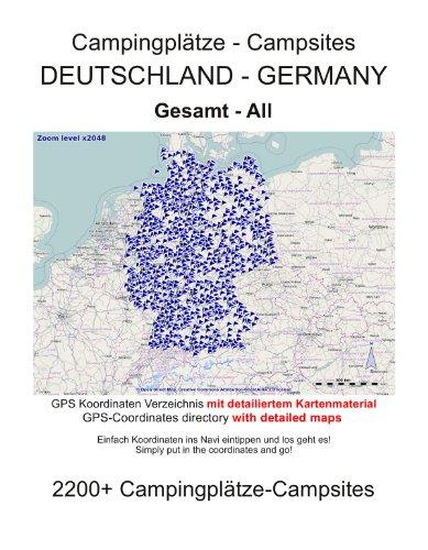 Campingplatz Verzeichnis GESAMT DEUTSCHLAND (mit GPS Daten und DETAILKARTEN)