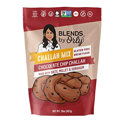 Gluten Free Chocolate Chip Challah Mix - Baking Mix for Gluten Free Chocolate Chip Challah Bread, GF Chocolate Chip Dinner Rolls & Chocolate Chip Babka From Blends by Orly 20.5 Oz