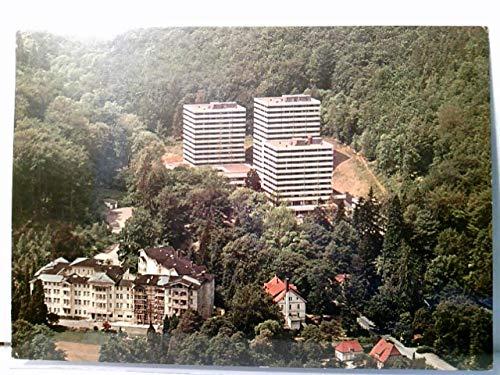 Bad Harzburg. Appart Hotel und Spiel - Casino (Harzburger Hof). AK farbig. Luftbiel, Fliegeraufnahme, Gebäudeansichten, Waldgebiet, Panoramablick