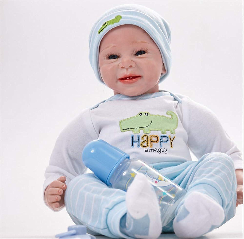 AFYH Reborn Baby, 22 Zoll ca. 55 cm Kinderpuppe, 100% weiches Silikon zum Tragen von Schnuller, geben Kindern EIN Geburtstagsgeschenk