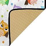 Vipsa Eulen-Teppich, rechteckig, Polyester, rutschfest, 99 x 51 cm - 2
