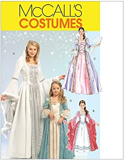 McCall's M5731 Women's Princess Dress Halloween Costume Patterns, Sizes S-XL