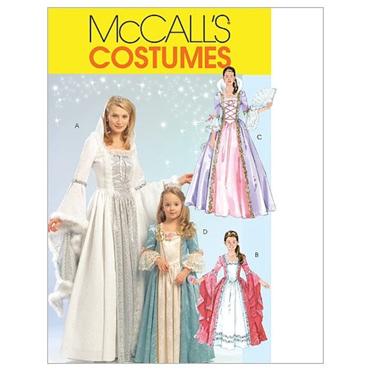 McCall's M5731 Women's Princess Dress Halloween Costume Patterns, Sizes S-XL