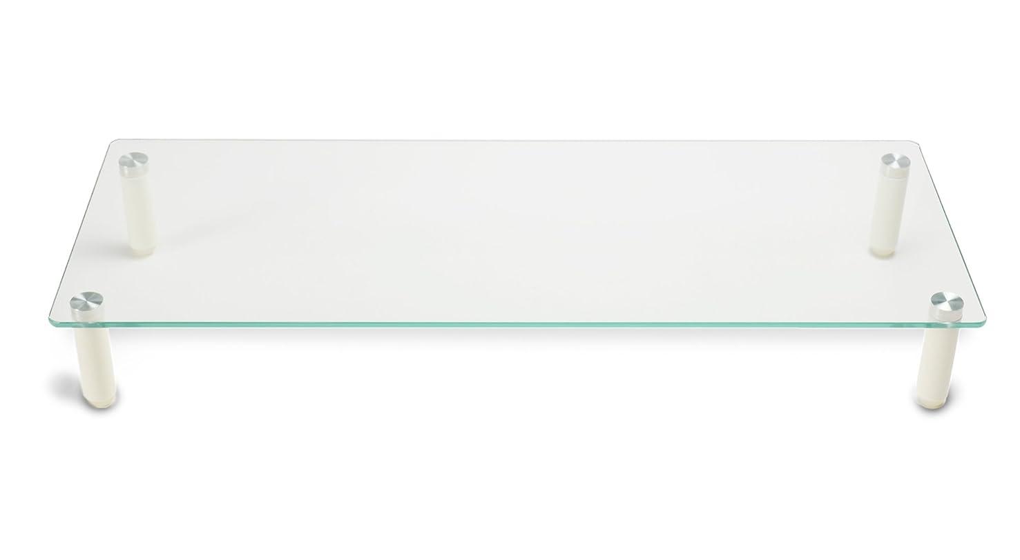 感嘆符オデュッセウス旅グリーンハウス 強化ガラスディスプレイ台 樹脂スタンドタイプ 耐荷重20kg 幅560mm GH-DKBB-CL