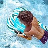 CLISPEED Inflatable Bodyboard for Kids, Beach Float with Handles Portable Inflatable Surfboard Swimming Boogie Boards Pool Float for Beach Surfing Swimming Summer Water Fun (Green)