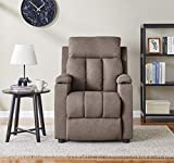 BANTIA FURNITURES PVT LTD Fabric Suede Classy Single Seater Recliner (Brown)