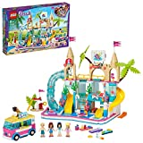 LEGO Friends Summer Fun Water Park 41430 Set Featuring Friends Stephanie, Emma, Olivia and Mason Buildable Mini-Doll Figures, Perfect Set for Creative Play, New 2020 (1,001 Pieces)