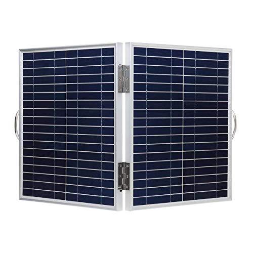 Chenbz Panel Solar a Prueba de Agua portátil Plegable silicio monocristalino 60W 18V DC IP65 con Salida del USB + Cable Clip de la batería, Panel Solar