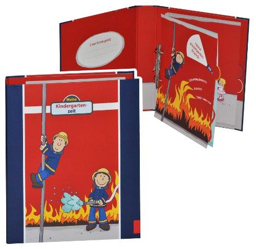 Ringbuch / Sammelordner  Meine Kindergartenzeit  Album - Kindergarten / Dokumente A4 - Feuerwehr / Feuerwehrmann Frido Freunde - Ordner als Fotobuch / Photo..
