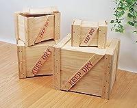 【10104】ガレージの演出&収納に輸出用木箱-Bタイプ-(LL/無色)