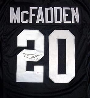 OAKLAND RAIDERS DARREN MCFADDEN AUTOGRAPHED BLACK JERSEY PSA/DNA STOCK #22152