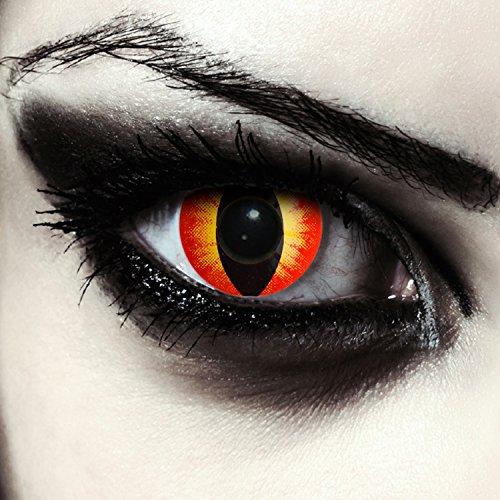 Designlenses farbige Katzen Kontaktlinsen für Halloween Karneval Katzenaugen