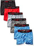 Hanes Boys' Breathable Tagless Boxer Brief, 6-Pack, Assorted Space Dyes & Solids, Small