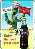 Calendario perpetuo Coca-Cola: publicidad Vintage enjoy that Real Great Taste '