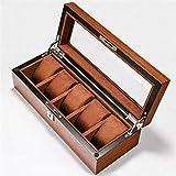 LOMAX Exquisit Caja de cigarros, Caja de Reloj de Varios dígitos, Madera del Reloj de la Caja de almacenaje, Escaparate Box, 6 dígitos Caja de Reloj de 12 dígitos 18 dígitos Humidor (Color : 5)
