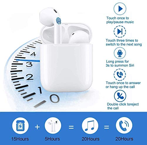 Auriculares Bluetooth,Auriculares inalámbricos Bluetooth5.0 In-Ear Mini Auriculares Auriculares,emparejamiento automático emergente,para Auriculares/Samsung/Huawei Xiaomi