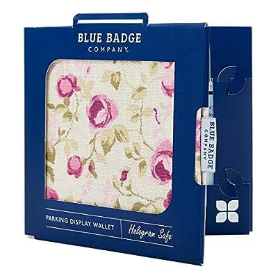 Blue Badge Co Roses Pink and Purple Hologram-Safe Wallet Disabled Parking Permit Cover Holder Fits New Badge includes Timer Clock