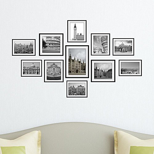 YYH Stickers muraux@ City Building Modern Decore Mural Combination Photo Frame Sticker Autocollant DIY Office Art Wall Stickers