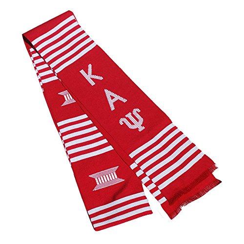 Kappa Alpha Psi Kente Graduation Stole Red/White