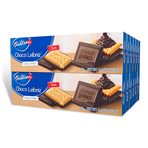 Bahlsen Choco Leibniz Dark Cookies (12 boxes) - Leibniz Butter Biscuits...