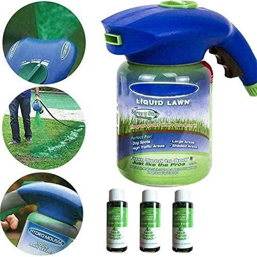 xiaozhifu Flüssiges Rasensystem Grassprühgerät, Garden Hydro Flüssiges Sprühgerät Haushaltshydro-Sämsystem Rasensprühgerät Gras Rasenpflege Gartengeräte