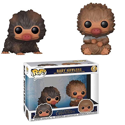 LTY YHP Fantastic Beasts - Baby Niffler Action Figure #2 (Brown&Tan) Pop Collectible Model 2-Pack with Compatible Box Packaging Collection