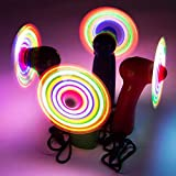 Flashing Panda LED Mini Light-Up Handheld Personal Fan w/Changing Patterns, Assorted Colors