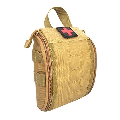 Gazechimp Taktische Handtasche Molle Pouch Erste Hilfe Tasche Notfalltasche EMT Beutel (leere Tasche) Wandern Reisen Kulturbeutel - Braun