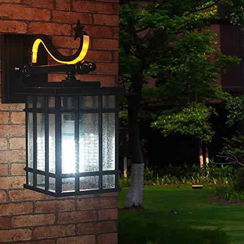 FAGavin Lámpara De Pared Impermeable Al Aire Libre Llevó La Lámpara De Pared/Villa/Pasillo De La Pared Exterior De La Pared Retro Iluminación De La Lámpara