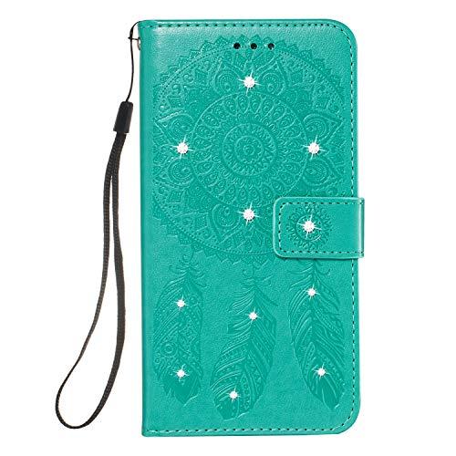 GIMTON Galaxy Note 10 Pro 5G Hülle, Brieftasche Klapphülle mit Kartenfach und Magnet Verschluss, Stoßfest Kratzfestes PU Leder Schutzhülle für Samsung Galaxy Note 10 Pro 5G, Grün