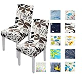 Universal Removeable Dining Room Chair Slipcovers Dining Chair Covers Parsons Chair Slipcover Stretch Chair Covers (2, patterns10)