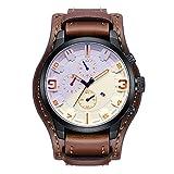 Reloj para hombre de 45 mm, resistente al agua, movimiento de cuarzo, reloj deportivo para hombre, esfera atmosférica, para hombre (color T-3)